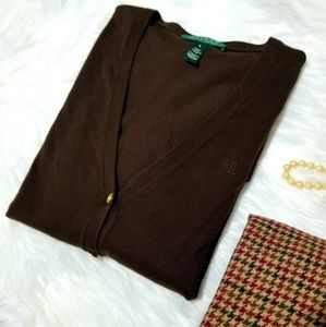 Cardigan Lauren Ralph Lauren Dark Brown Small